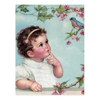 Pájaro de los azules cielos tarjetas postales