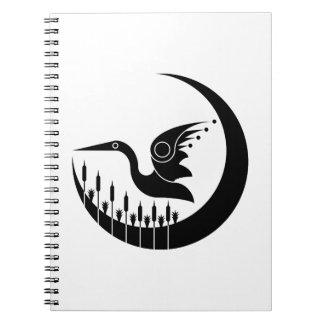 Pájaro de los humedales libro de apuntes