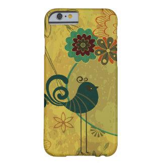 pájaro de lujo del trullo y vector floral moderno funda para iPhone 6 barely there