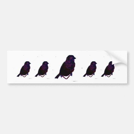 Pájaro de neón pegatina de parachoque