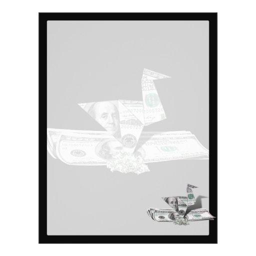 """Pájaro de Origami a partir del billete de dólar el Folleto 8.5"""" X 11"""""""