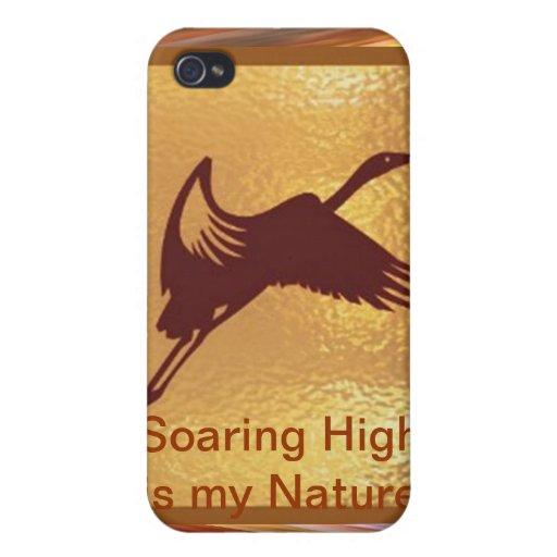 Pájaro de oro - el alto altísimo es mi naturaleza iPhone 4 fundas