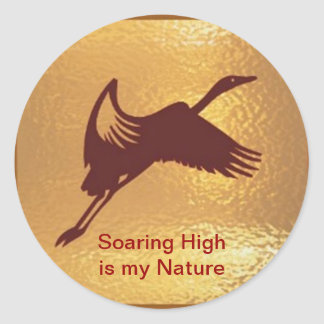 Pájaro de oro - el alto altísimo es mi naturaleza pegatina redonda