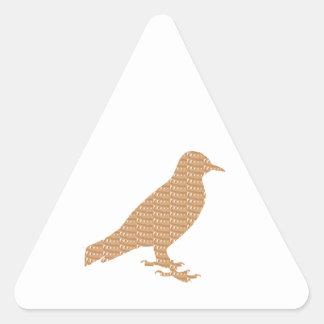 Pájaro DE ORO: El mascota embroma la decoración Pegatina Triangular
