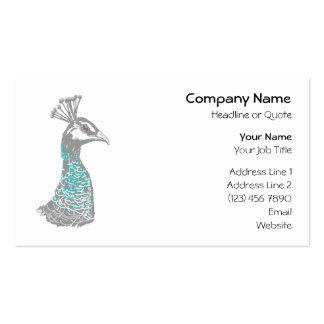 Pájaro de Peahen Plantillas De Tarjeta De Negocio