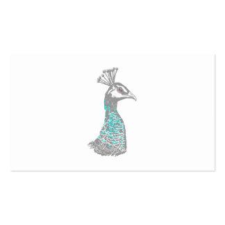 Pájaro de Peahen Tarjeta De Negocio