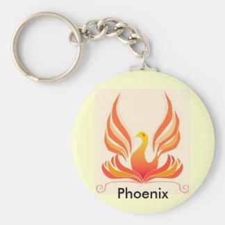 Pájaro de Phoenix Llavero Redondo Tipo Pin