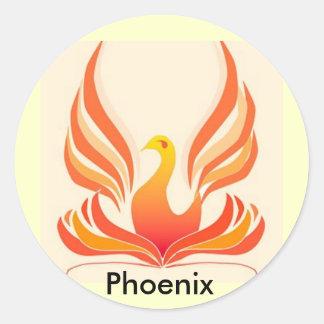 Pájaro de Phoenix Pegatina Redonda