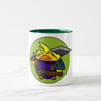 Pájaro de Poio FF Tazas De Café