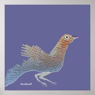 Pájaro de ramitas poster