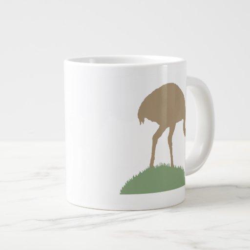 Pájaro de Rhea Taza Extra Grande