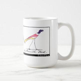 Pájaro de Runcible de Edward Lear Taza Básica Blanca