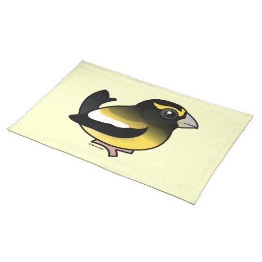 Pájaro de tarde manteles individuales