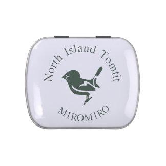 Pájaro de Tomtit MIROMIRO Nueva Zelanda /Aotearoa Frascos De Caramelos