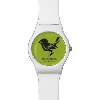 Pájaro de Tomtit MIROMIRO Nueva Zelanda /Aotearoa Reloj De Mano