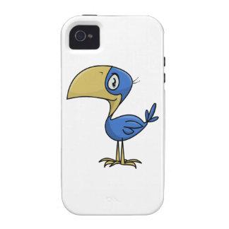 Pájaro de Toucan del dibujo animado Vibe iPhone 4 Carcasa