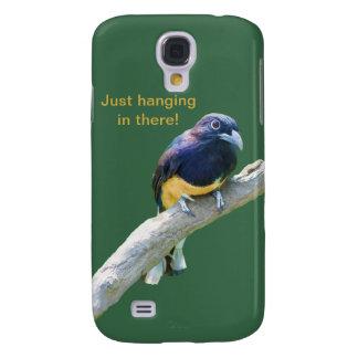 Pájaro de Trogon que cuelga adentro allí Funda Para Galaxy S4