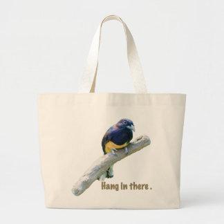 Pájaro de Trogon que cuelga en personalizable del  Bolsa Tela Grande