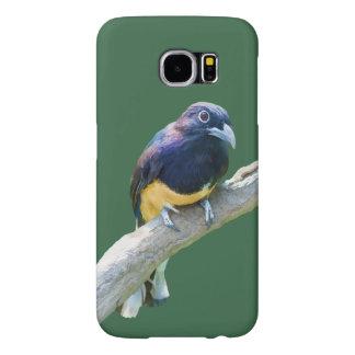 Pájaro de Trogon que cuelga en personalizable del Fundas Samsung Galaxy S6