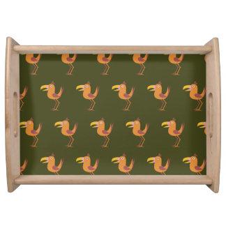 Pájaro de Tucan verde oscuro