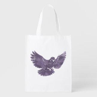 Pájaro de vuelo del vintage bolsas para la compra