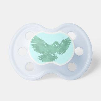 Pájaro de vuelo del vintage chupetes de bebe