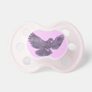 Pájaro de vuelo del vintage chupetes para bebes