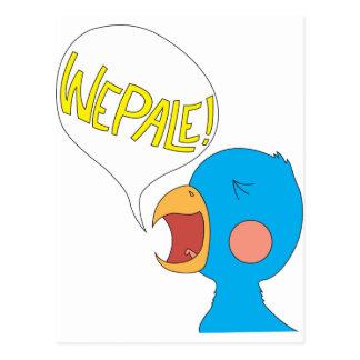 Pájaro de Wepale Tarjeta Postal