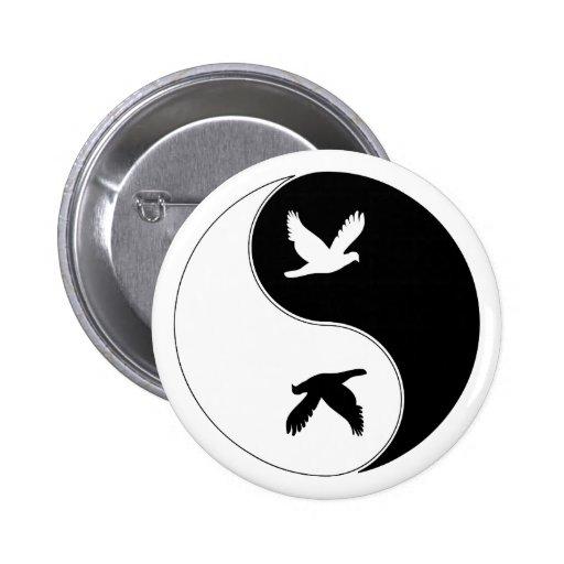 Pájaro de Yin Yang Pins