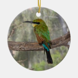 Pájaro del abeja-comedor del arco iris, Australia Adorno Navideño Redondo De Cerámica