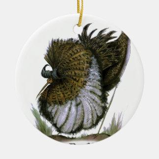 Pájaro del acerino, fernandes tony adorno redondo de cerámica