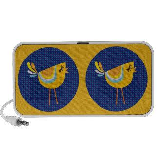 ¡Pájaro del amarillo del arte popular lindo Altavoz