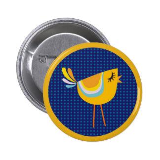 ¡Pájaro del amarillo del arte popular, lindo!