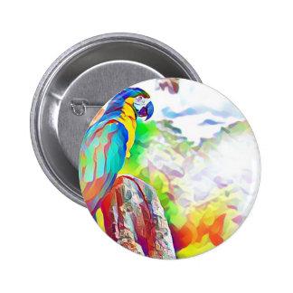 Pájaro del Amazonas Pin Redondo De 2 Pulgadas