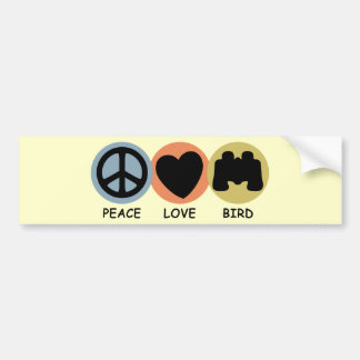 Pájaro del amor de la paz pegatina para auto