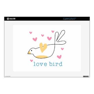 Pájaro del amor portátil 38,1cm skins