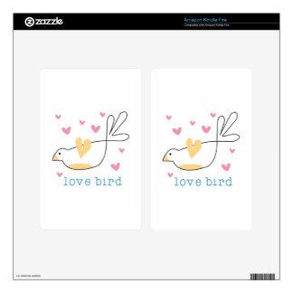 Pájaro del amor skins para kindle fire