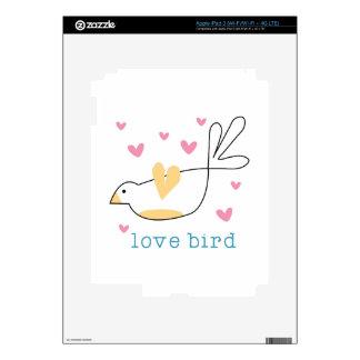 Pájaro del amor iPad 3 pegatinas skins