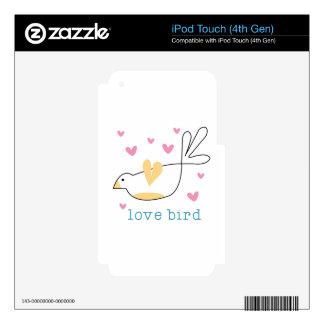 Pájaro del amor skins para iPod touch 4G