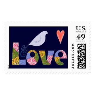 Pájaro del amor sellos