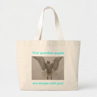 Pájaro del ángel bolsa tela grande