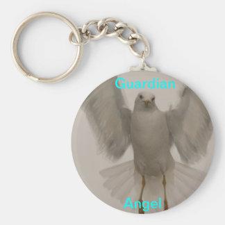 Pájaro del ángel llavero redondo tipo pin