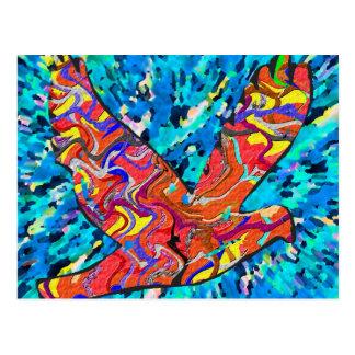 Pájaro del ángel tarjetas postales