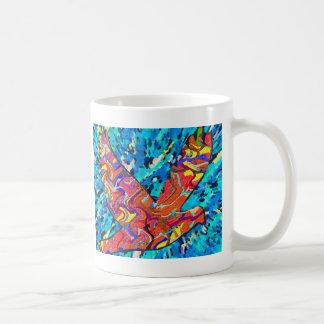 Pájaro del ángel taza
