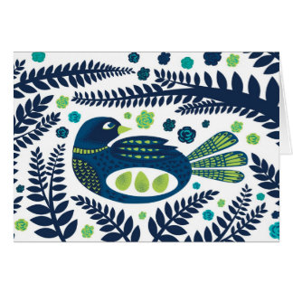 pájaro del arbolado tarjeta de felicitación