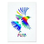 Pájaro del arco iris invitación 12,7 x 17,8 cm