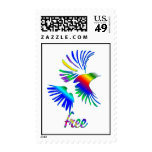 Pájaro del arco iris sello