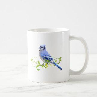 Pájaro del arrendajo azul tazas de café
