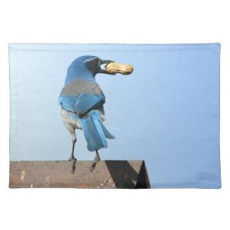 Pájaro del arrendajo azul y americano MoJo Placema Mantel