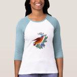 Pájaro del arte popular camiseta